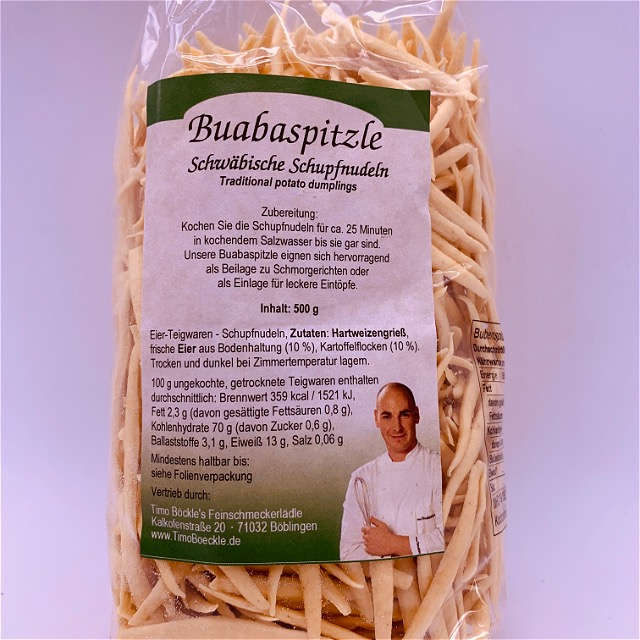 Buaba pointed pasta (dried)